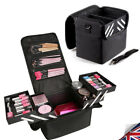 Professional Make Up Case Vanity Cosmetic Beauty Box Jewellery Storage Black UK
