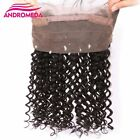 100% Brazilian Deep Weave Virgin Human Hair Extensions 360 Front Lace Closure
