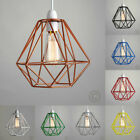 Vintage Lampshade Diamond Industrial light Metal Frame lamp Cage Guard bars Cafe