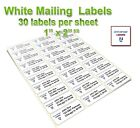 30 labels per Sheet, Address & Amazon FBA Labels, Premium Quality,  USA Made