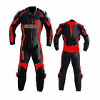 Suzuki GSXR Red Motorcycle Leather Suit Motorbike Sports Leather Suit Racing
