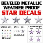 Star stickers! Pick your size and color! Permanent outdoor g