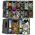 Case for Samsung Note 9, Belt Clip Combo Kickstand Rugged Dual Layer Cover