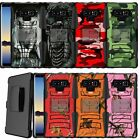 For Samsung Galaxy Note 9, Kickstand Holster Rugged Shock Case Dual Layer