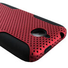 For HTC Desire 510/512 Mesh Fishnet Hybrid Shockproof Silicone Case Cover