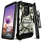 Case for LG K30 / Premier Pro LTE, TANK Belt Clip Kickstand Rugged Dual Layer