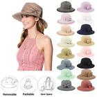 Kyпить Women's UPF50 Foldable Packable Summer Sun Beach Straw Hat Cap на еВаy.соm