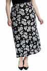New Women Skirt Plus Size Ladies Floral Print Maxi Style Elastic Waist Soft Sale