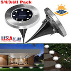 8-LED Waterproof Solar Ground Lights Outdoor for Landscape P