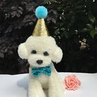 Pet Dog Cat Cute Birthday Crown Hat Cap Bowtie Puppy Party Headwear Costume New