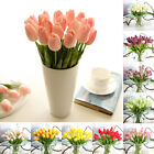 Artificial Tulip Fake Flower Flowers Home Party Wedding Room Decor Multicolor Uk