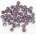 New 50/80pcs Rondelle Glass Crystal Spacer Beads 6*8mm Jewelry Making findings