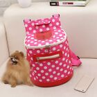 Pet Carry Bag Polka Dot Dog Backpack Front Chest Bag Puppy Round Zipper Carrier