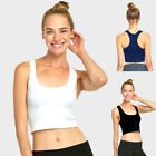 Women Sports Bra Fitness Yoga Crop Tank Top Stretch Razorback Spandex Bandeau