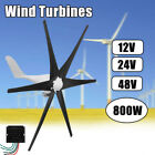 800W Wind Turbine Generator 12V/24V/48V 6 Blade Windmill Power Charge Controller
