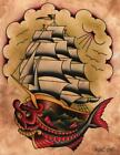 Ahoy by Aaron Cox Canvas or Paper Rolled Art Print