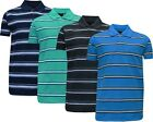 New Men Short Sleeve Yarn Dyed Stripe Polo Shirt T- Shirt Top Casual  M - 5XL