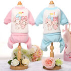 Warm Puppy Pajamas Dog Clothes Small Pet Jumpsuit Cartoon Printed Kitten Apparel