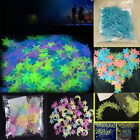 100pcs 3d Stars Glow In The Dark Luminous Fluorescent Wall Stickers Room Decor