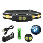 2000Lm L2 LED Headlamp Outdoor Hunting Camping Headlight USB Lamp 18650 Charger