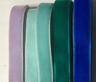 "3/8"" NON STRETCH VELVET Ribbon Nylon Many COLORS!  U Pick, buy per yard"