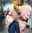 Thicken New 100% Genuine Fox Fur Parka Outwear Womens Trench Coat Luxury Padded