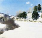 METCALF WILLARD L HUSH OF WINTER ARTIST PAINTING OIL CANVAS REPRO WALL ART DECO