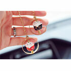 Colorful Lucky Cat Car Charm Porcelain Figurine Hanging Pendant Car Decor S