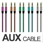 Kyпить 3.5mm Jack To Jack AUX CABLE Audio lead 1m Braided Auxiliary Lead Headphone/iPod на еВаy.соm