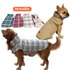 Внешний вид - French Bulldog Winter Pet Dog Coat Jacket Small Large Poodle Apparel Plaid Warm