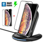 For iPhone XR/ XS Max Wireless Qi Fast Charger Charging Pad Stand Dock With Case