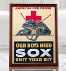 US+Red+Cross+Propaganda+Poster+-+Our+Boys+Need+Sox+Knit+Your+Bit%2C+US+Vintage