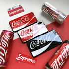 Coca Cola Logo Real GLASS BACK Shockproof Case Cover For iPhone X 8 7 6s 6 £3.39  on eBay