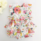 Внешний вид - Newborn Baby Girl Summer Flower Ruffle Romper Bodysuit Jumpsuit Outfits Sunsuit