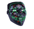 Led Scary Light Mask Halloween Purge Election Year Cosplay Funny Payday Party