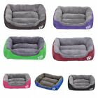 US Dog Bed Pet Kennel House Cozy Warm Cushion Pad Puppy Cat Sleeping Bed S M L