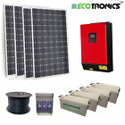 Off Grid Solar Kit | 1500W Solar | 9.6kWh GEL Bank | 5KVA / 4kW Inverter-Charger