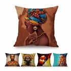 Fashion African Girl Lady Oil Painting Black Women  Art Decoration Cushion Cover