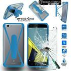 Tempered Glass Screen Protector + silicone bumper Stand Case for Doogee Mobile