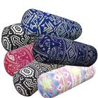 Bolster Cover*Thailand Cotton Canvas Neck Roll Tube Yoga Massage Pillow Case*AL8