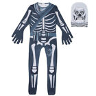 Fortnite Skull Trooper Cosplay Kostüm Kinder Erwachsener Overall Halloween Party