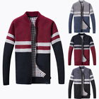 Herbst Winter Herren Strickjacke Business Casual Slim Fit Sweatercoat Jacken KUS