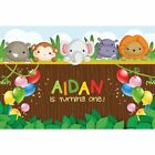 Animal backdrop birthday party zoo jungle party banner 1st b