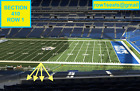 4 Front row Jacksonville Jaguars at Indianapolis Colts  tickets sec 410 row 1
