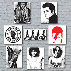 Music Canvas Art Prints. Pop Rock Northern Soul Musical Icons Home Wall Decor