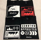 $120 LOT of (4) RVCA Mens T-SHIRTS Skate Surf BLACK Buckle BKE Large L New