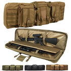 "Dual Military Tactical Rifle Gun Case Bag 36 46"" Hunting Travel Storage Backpack"