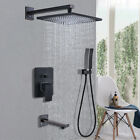 Shower Faucet Combo System Rainfall Shower Head with Hand Shower Mixer Tap