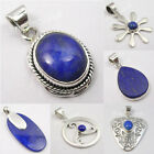 925 Silver LAPIS LAZULI Anniversary Gift Pendant Fashion Jewelry ! Choose Style