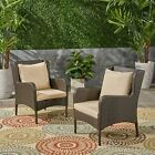 Duncan Outdoor Wicker Club Chairs, Dark Gray and Silver (Set of 2)
